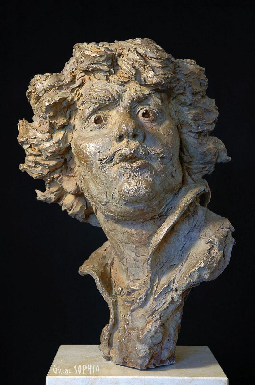 Bronze sculpture Young Rembrandt