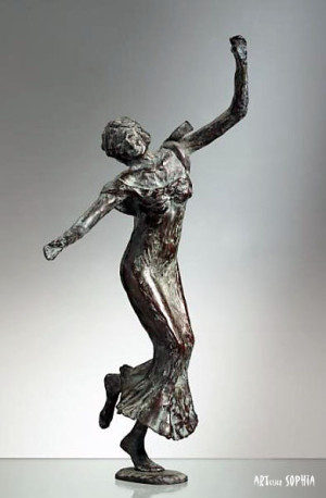 Bronze sculpture of Grace 1