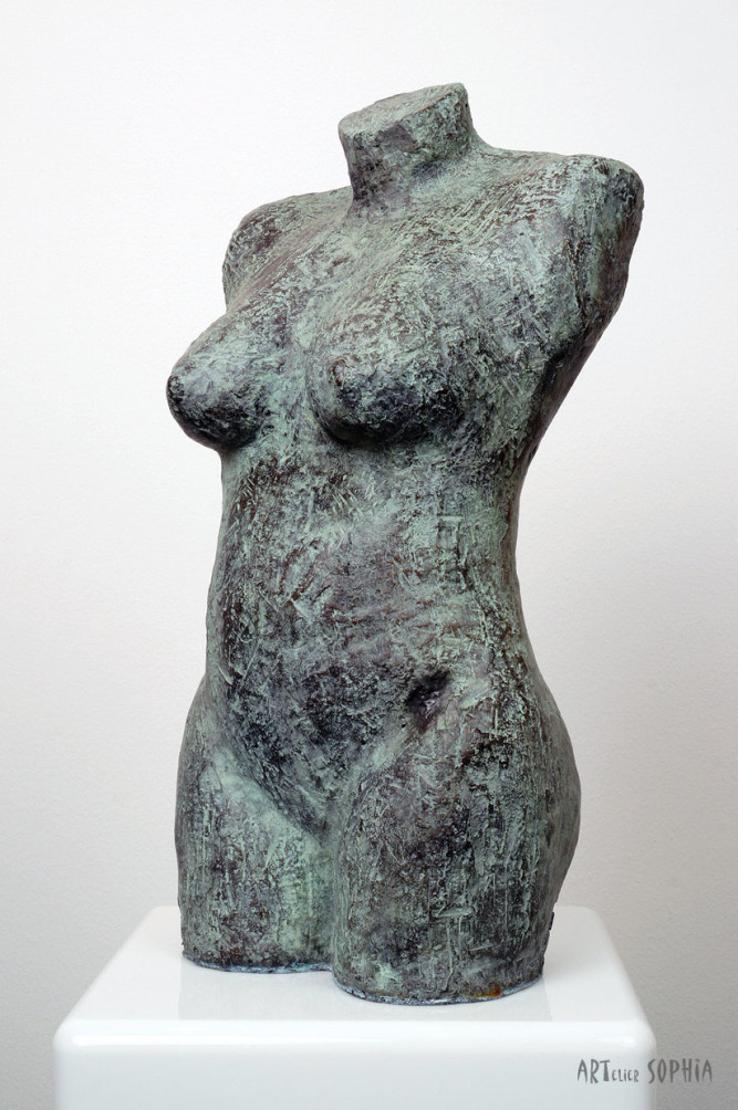 Bronze sculpture Torso small