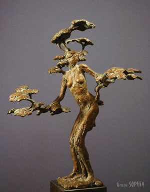 "Bronze sculpture "" Daphne"""