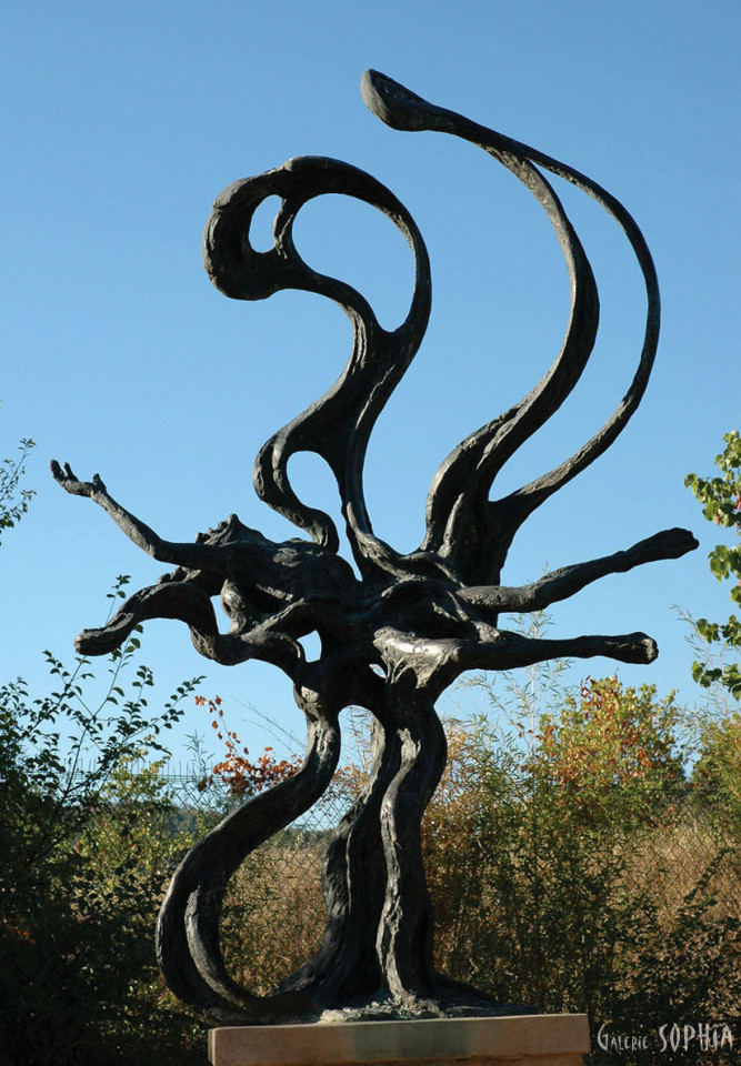 Bronze sculpture Drowning
