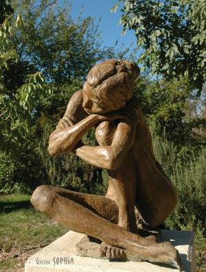 "Bronze sculpture ""Nude"""
