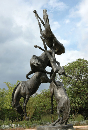 "Bronze sculpture ""Pheaton"""
