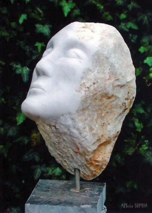 Stone Sculpture White marble Face