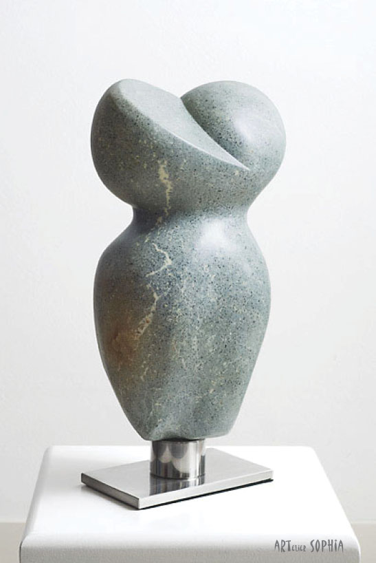 Stone sculpture Torso abstract