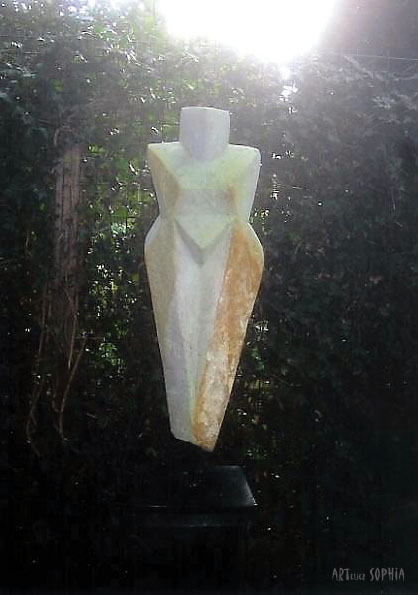 Stone sculpture Cubist female