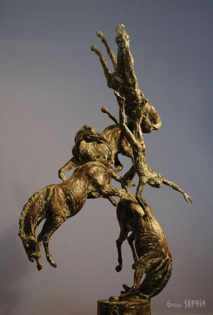 Bronze sculpture Pheaton, study