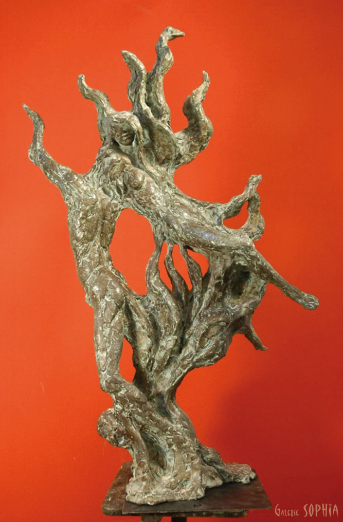 "Bronze sculpture ""The flame"""